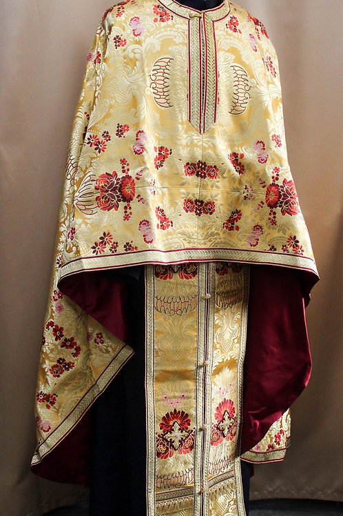 Canterbury gold real metal priest vestments