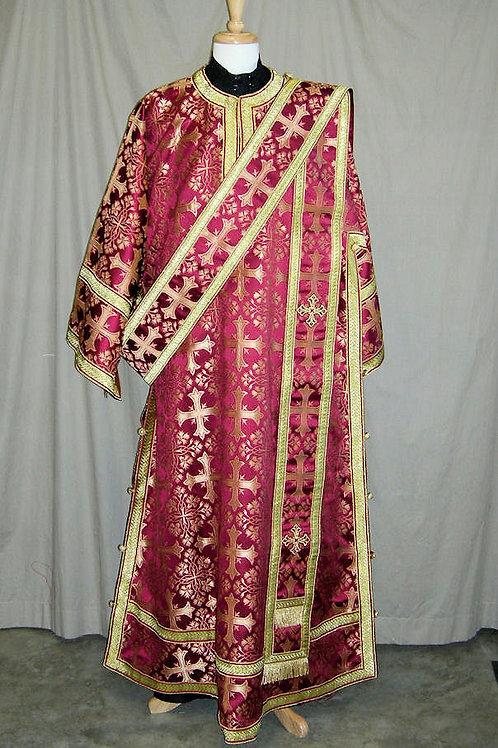 Corinth burgundy deacon's vestments