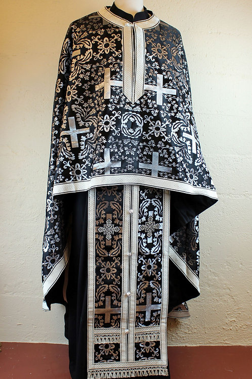 Priest vestments brocade, black