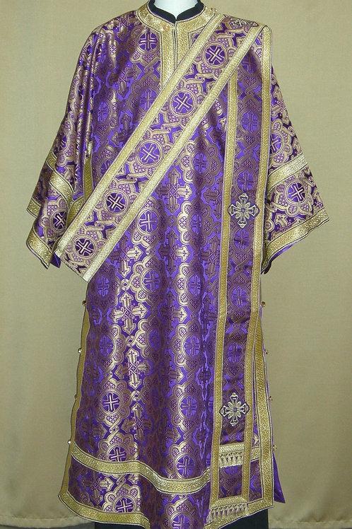 Deacon vestments brocade, purple