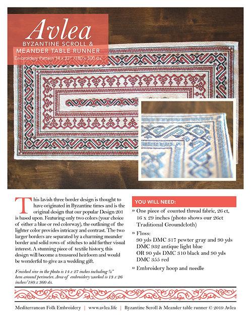 Byzantine Scroll & Meander Download