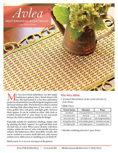 Mediterranean Basketweave download (M)--THREE colorways in one pattern!