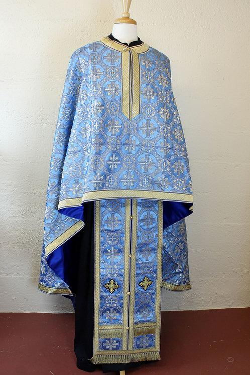 Jerusalem blue-gold priest vestments