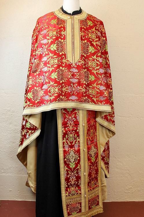 Venetian red priest vestments