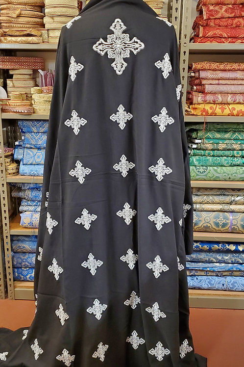 Crosses black lightweight priest vestments
