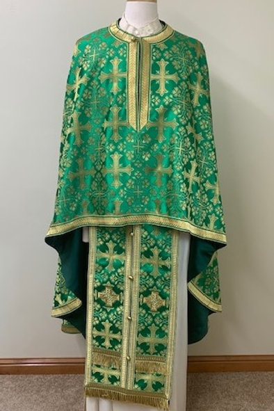 Corinth green priest vestments