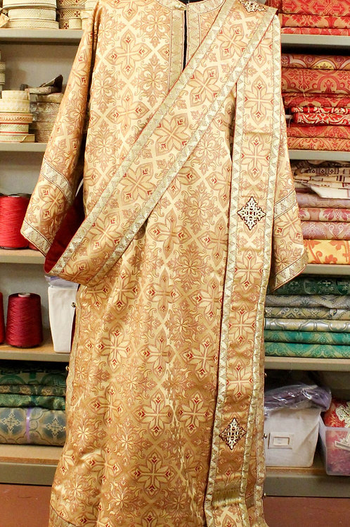 Deacon vestment brocade, gold
