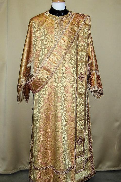 ChiRho gold deacon's vestments