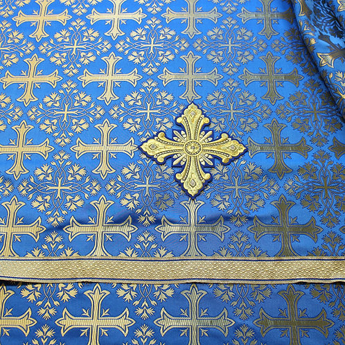 Corinth dark blue priest vestments