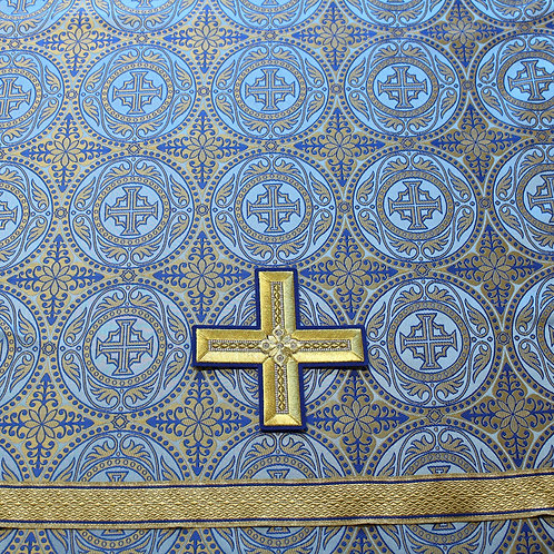 Edessa blue deacon's vestments