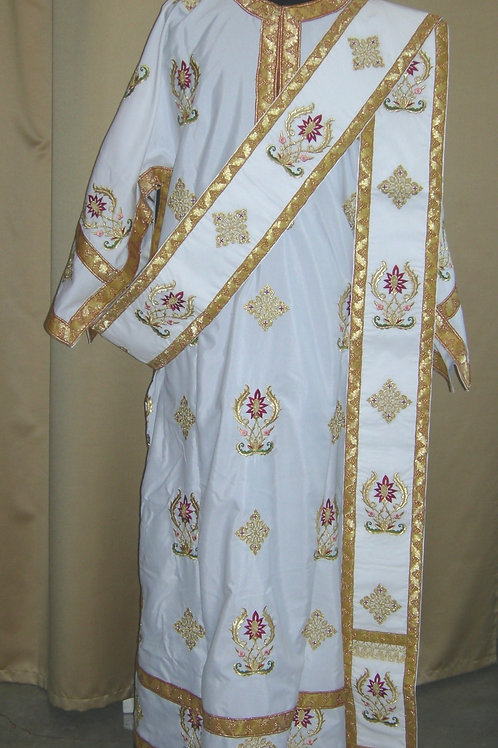 Deerfield Burgundy deacon vestments