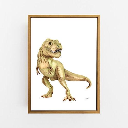 Maximus Tyrannosaurus T-Rex Dinosaur Wall Art | CANVAS
