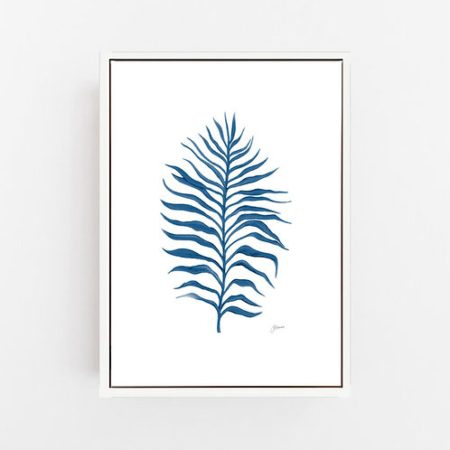 Tropical Fine Living Art Print in Navy Blue Wall Art | CANVAS