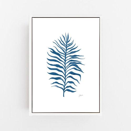 Tropical Fine Living Art Print in Navy Blue Wall Art | CANVAS
