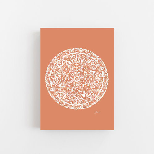 Sahara Mandala in Solid Sandstone Wall Art | CANVAS