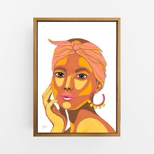 They call me Lola in White Art Print | CANVAS