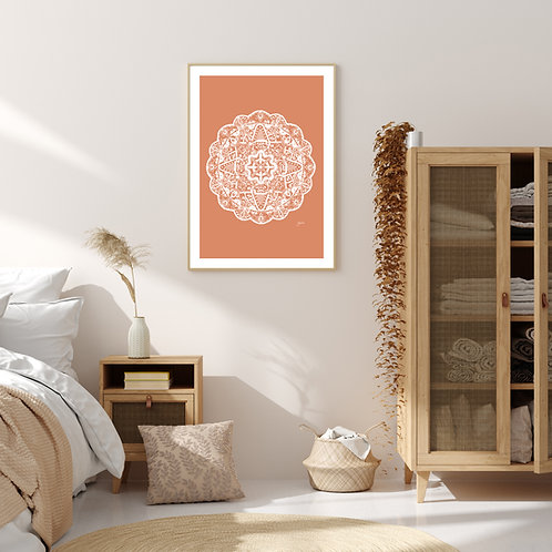 Marrakesh Mandala in Solid Sandstone Wall Art | FRAMED