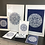 Thumbnail: Marrakesh Mandala Print in White & Navy