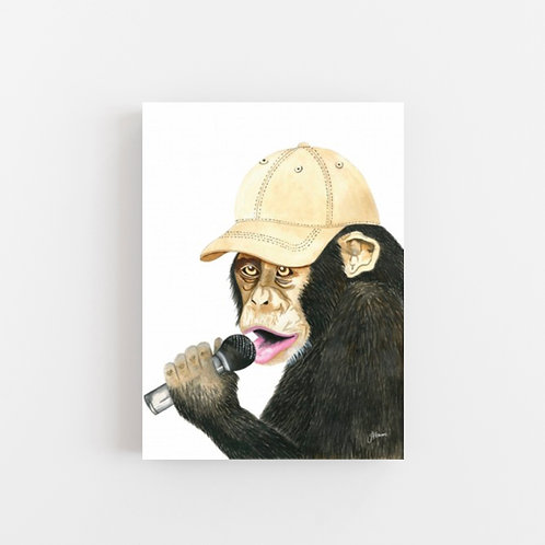 Alfie the Singing Monkey Wall Art   CANVAS