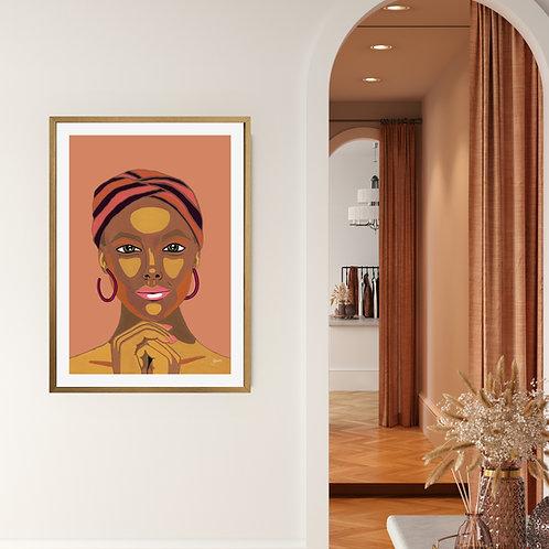 Lady Lila in Sandstone Fine Art Print   FRAMED