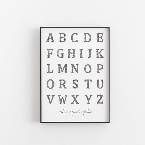The Secret Garden Alphabet Poster Art Print