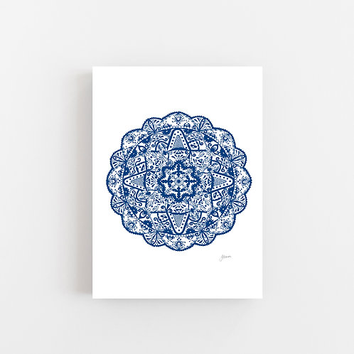 Marrakesh Mandala in Navy Wall Art | CANVAS