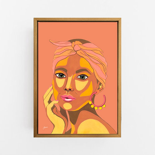 They call me Lola in Sandstone Art Print | CANVAS