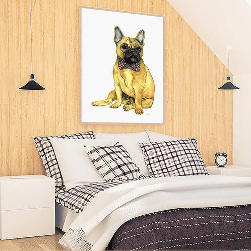 Anton the French Bulldog Fine Art Print | FRAMED