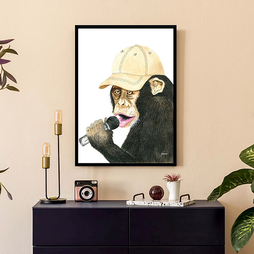 Alfie the Singing Monkey | FRAMED
