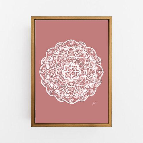Marrakesh Mandala in Solid Blush Pink Wall Art | CANVAS