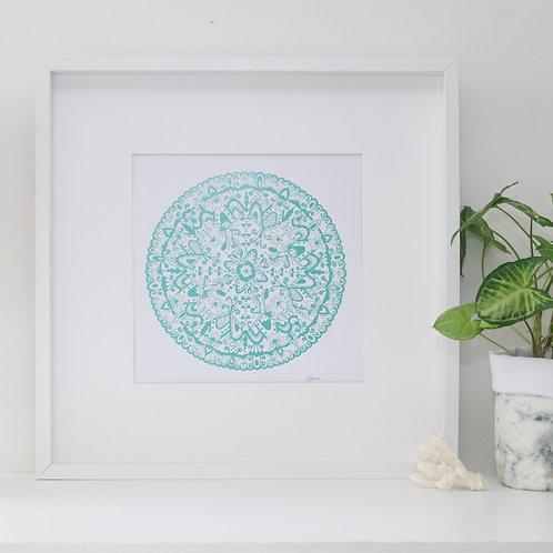 Sahara Mandala Print in Mint