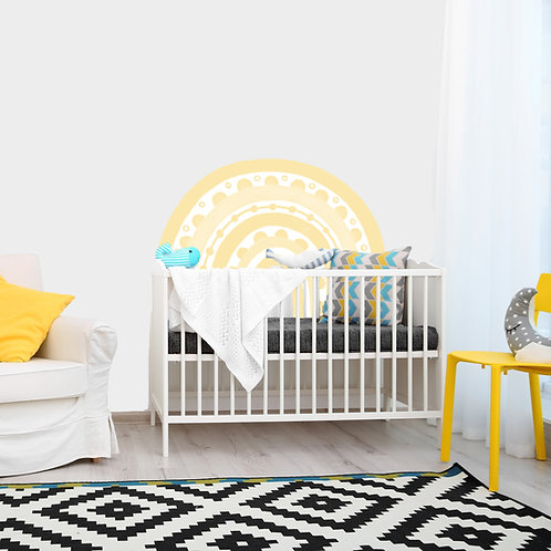 Rainbow Arch in Pale Yellow | WALL DECAL