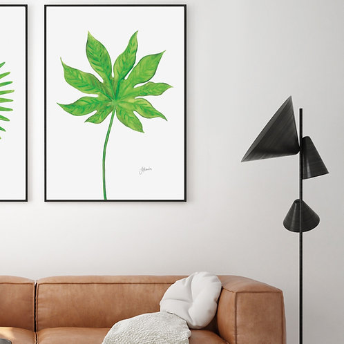 Aralia Living Art Leaf Print