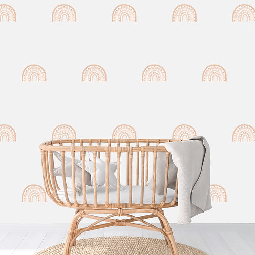 Rainbow Arch Mini in Light Blush | WALL DECAL