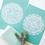 Thumbnail: Marrakesh Mandala Print in White & Mint