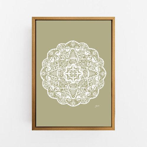 Marrakesh Mandala in Solid Sage Wall Art | CANVAS