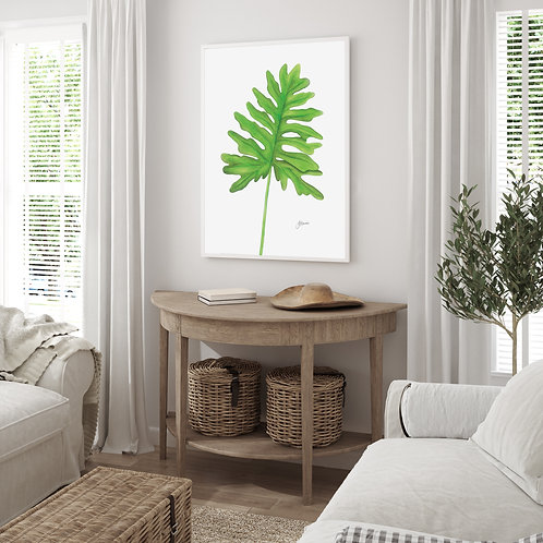 Philodendron Living Wall Art | FRAMED