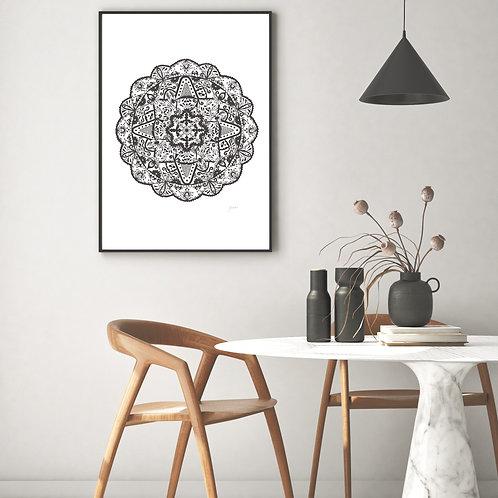 Marrakesh Mandala Print in Black