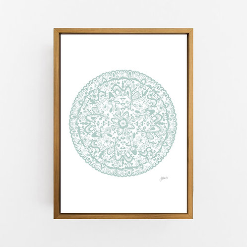 Sahara Mandala in Haze Wall Art | CANVAS