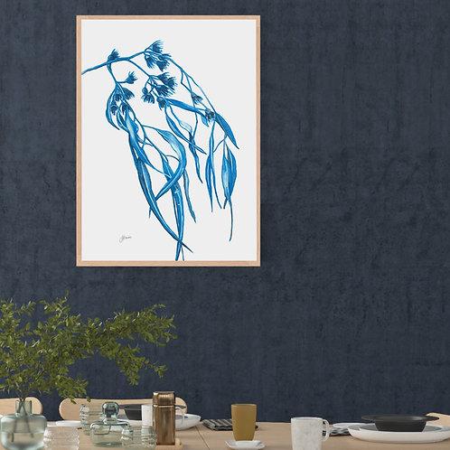 Navy Gum Leaf Flora 2 Fine Art Print | FRAMED