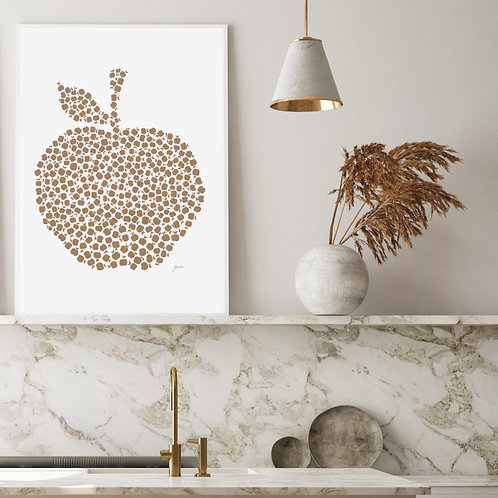 Apple Orchard Wall Art in Bronzed Copper | FRAMED