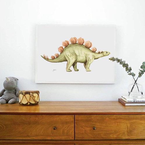 Stavros the Stegosaurus Dinosaur Print | FRAMED