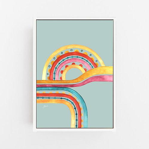 Little River Love in Haze Blush Wall Art | CANVAS