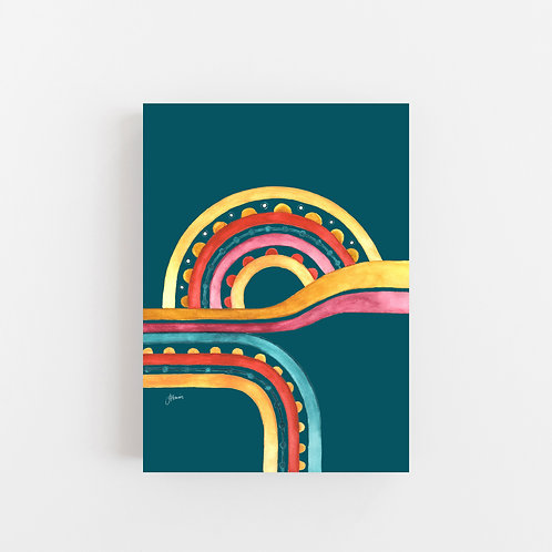 Little River Love in Sunset Teal Wall Art | CANVAS