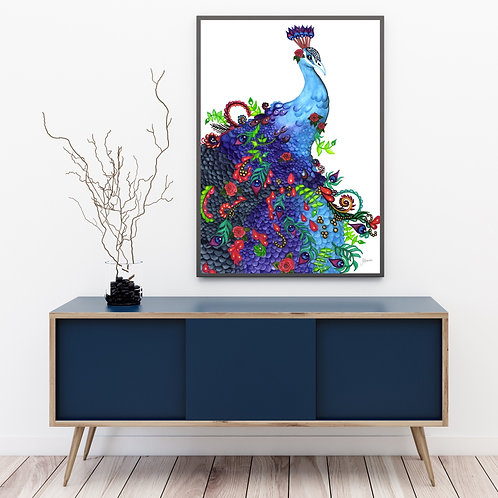 Jazzy the Colourful Peacock Print