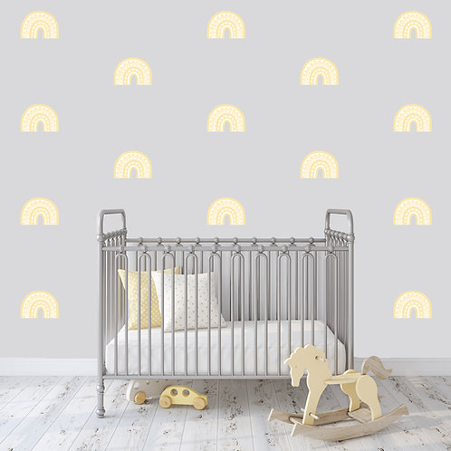 Rainbow Arch Mini in Pale Yellow | WALL DECAL