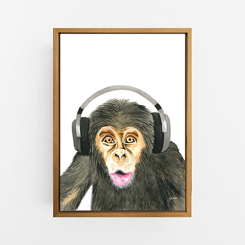 Kelvin the Music Monkey Wall Art | CANVAS