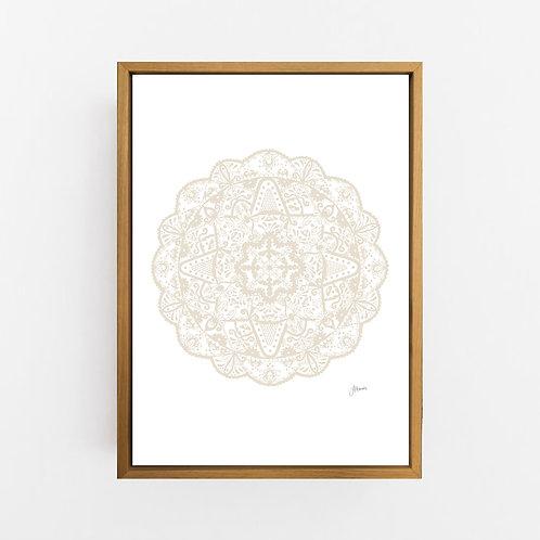 Marrakesh Mandala in Ivory Wall Art | CANVAS