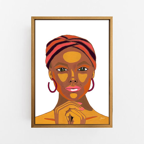 Lady Lila in White Art Print | CANVAS