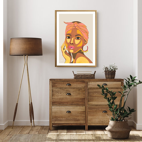 They call me Lola in Ivory Fine Art Print | FRAMED
